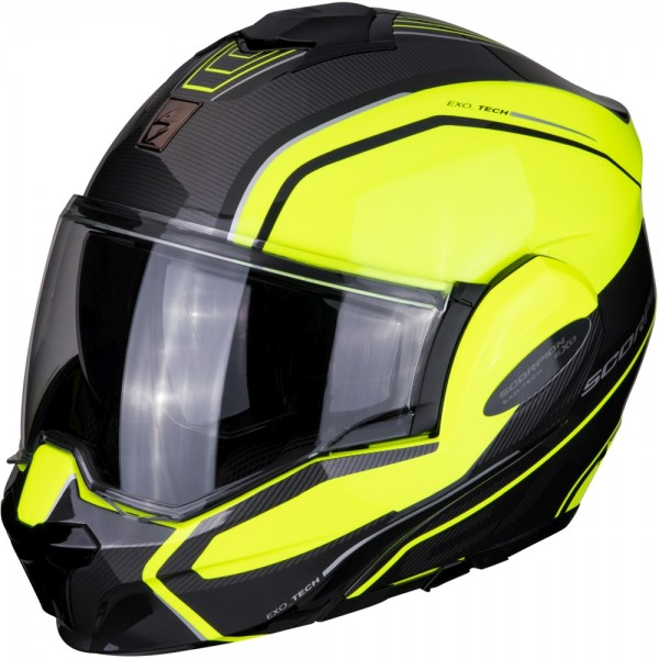 SCORPION EXO TECH TIME-OFF Neon Yellow-Silver