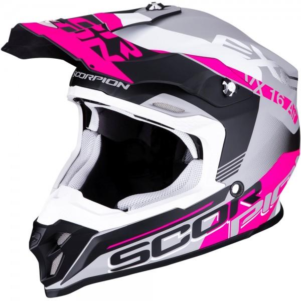 SCORPION VX-16 AIR ARHUS Matt Silver-Black-Pink