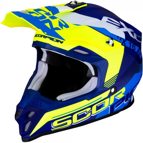 SCORPION VX-16 AIR ARHUS Matt Blue-Neon Yellow