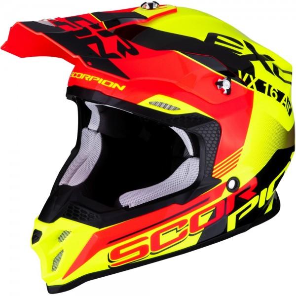 SCORPION VX-16 AIR ARHUS Neon Yellow-Neon Red