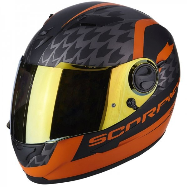 SCORPION EXO 490 GENESI Matt black-Orange