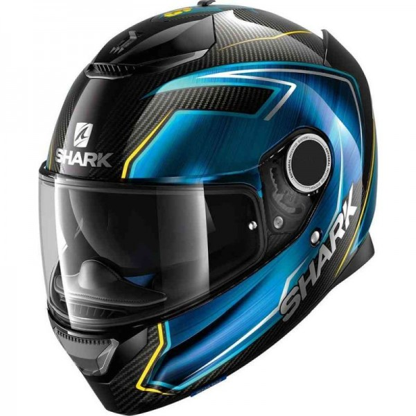 SHARK SPARTAN CARBON GUINTOLI  color Carbon Blue Yellow