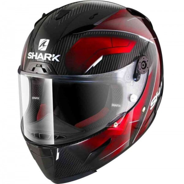 SHARK RACE-R PRO CARBON DEAGER color Carbon Chrome Red