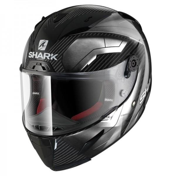 SHARK RACE-R PRO CARBON DEAGER color Carbon Chrome White