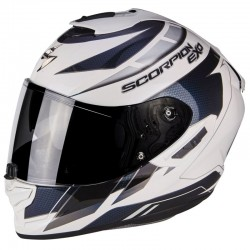 SCORPION EXO 1400 AIR CUP Pearl White-Chameleon-Blue