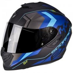 SCORPION EXO 1400 AIR TRIKA Matt black-Blue