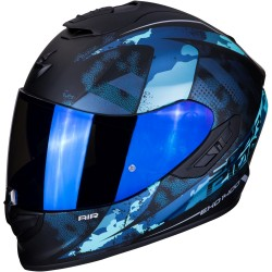 SCORPION EXO 1400 AIR SYLEX Matt Black-Blue
