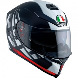 AGV K-5 S PLK DARKSTORM MATT BLACK/RED