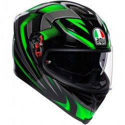 AGV K-5 S PLK HURRICANE 2.0 BLACK/GREEN