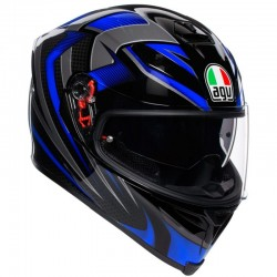 AGV K-5 S PLK  HURRICANE 2.0 BLACK/BLUE