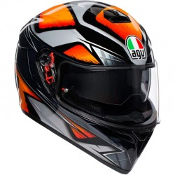 AGV K-3 SV PLK LIQUEFY BLACK/ORANGE