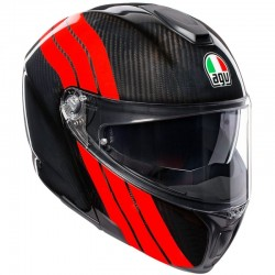 AGV SPORTMODULAR PLK STRIPES CARBON/RED