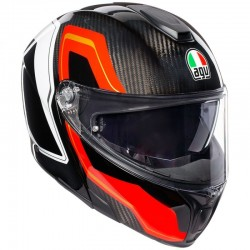 AGV SPORTMODULAR PLK SHARP CARBON/RED/WHITE