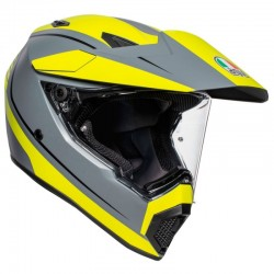 AGV AX9 PLK PACIFIC ROAD MATT GREY/YELLOW FLUO