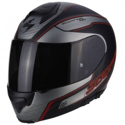 SCORPION EXO 3000 AIR STROLL Matt black-Silver-Red