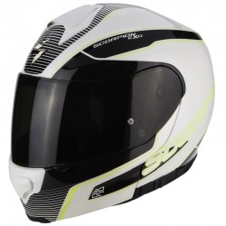 SCORPION EXO 3000 AIR STROLL Pearl white-Black-Neon yellow