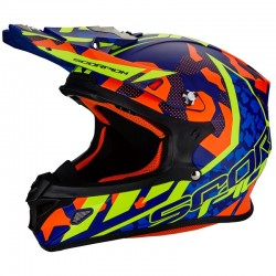 SCORPION VX 21 AIR FURIO Matt blue-Red-Neon yellow