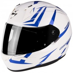 SCORPION EXO 390 HAWK Pearl white-Blue