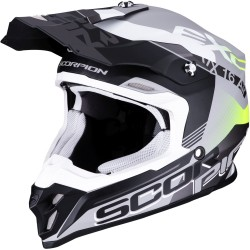 SCORPION VX-16 AIR ARHUS Matt Silver-Black-Neon Yellow