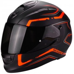 SCORPION EXO 510 AIR RADIUM Matt black-Orange