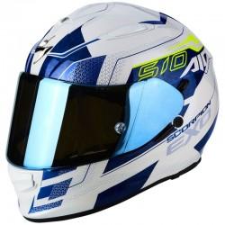 SCORPION EXO 510 AIR GALVA Pearl white-Blue