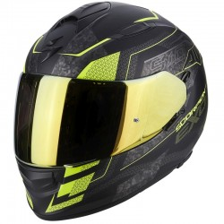 SCORPION EXO 510 AIR GALVA Matt black-Neon yellow