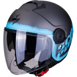 SCORPION EXO CITY BLURR Silver-Blue