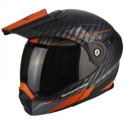 SCORPION ADX-1 DUAL Matt black-Orange