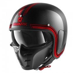 SHARK S-DRAK VINTA color Carbon Chrome Red