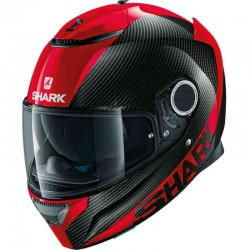 SHARK SPARTAN CARBON CARBON SKIN color Carbon Red Red
