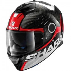SHARK SPARTAN CARBON CLIFF color Carbon Red White