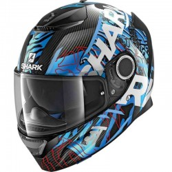 SHARK SPARTAN CARBON DAKSHA color Carbon Blue White