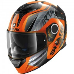 SHARK SPARTAN KARKEN FLUO color Orange Black Black