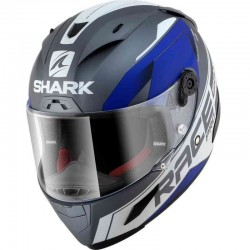 SHARK RACE-R PRO SAUER BLUE color Silver White Blue MAT
