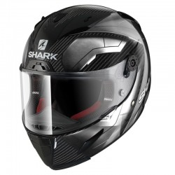 SHARK RACE-R PRO CARBON DEAGER color Carbon Chrome White