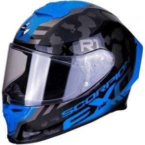 SCORPION EXO R1 AIR OGI Dark Silver Blue