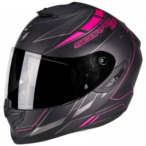 SCORPION EXO 1400 AIR CUP Matt Black-Chameleon-Pink
