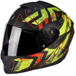 SCORPION EXO 1400 AIR PICTA Matt black-Neon yellow
