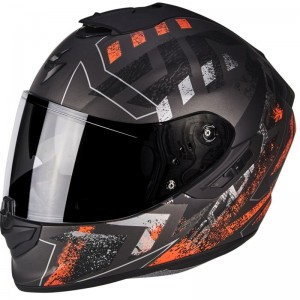 SCORPION EXO 1400 AIR PICTA Matt silver-Orange