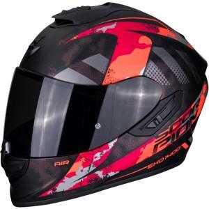 SCORPION EXO 1400 AIR SYLEX Matt Black-Red