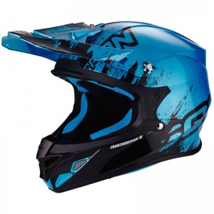 SCORPION VX 21 AIR MUDIRT Black-Sky blue