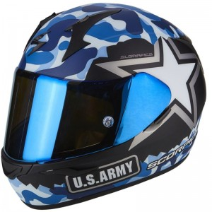 SCORPION EXO 390 ARMY Matt black-Blue