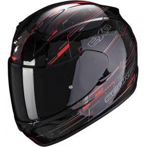 SCORPION EXO 390 BEAT Black-Neon Red