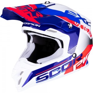 SCORPION VX-16 AIR ARHUS Pearl White-Blue-Neon Red