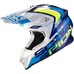 SCORPION VX-16 AIR NATION Blue-White-Neon Yellow