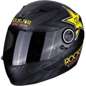 SCORPION EXO 490 ROCKSTAR Metal Black-Yellow-Red