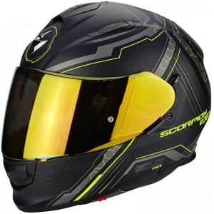 SCORPION EXO 510 AIR SYNC Matt black-Neon yellow