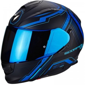 SCORPION EXO 510 AIR SYNC Matt black-Blue