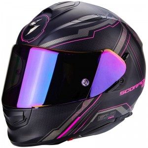 SCORPION EXO 510 AIR SYNC Matt black-Pink