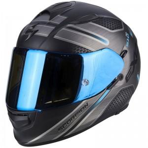 SCORPION EXO 510 AIR ROUTE Matt black-Blue